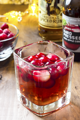 Easy Spiced Cranberry Cider Cocktail Recipe