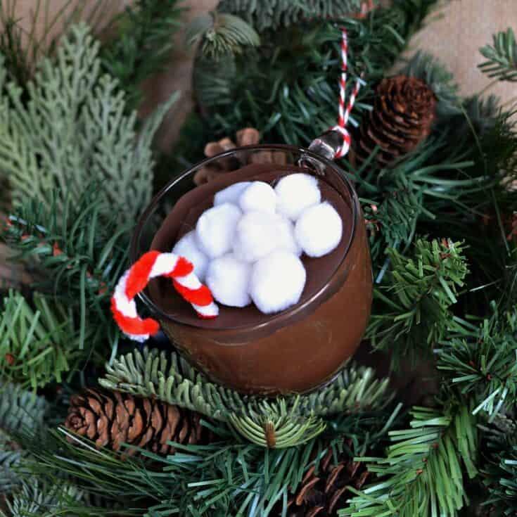 Mug of Hot Cocoa Christmas Ornament