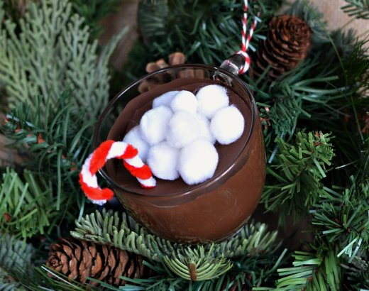 Easy and Cute Mug of Hot Cocoa Christmas Ornament