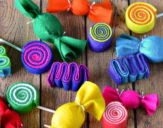 Colorful Felt Candy Garland