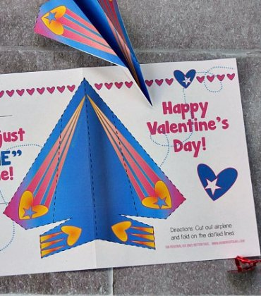 Paper Airplane Valentine Cards for Kids