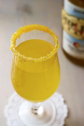 3-Ingredient Lemonade and Peach Vodka Martini