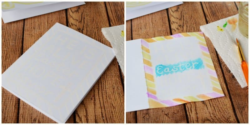 Easy handmade easter cards with watercolors for Religious crafts for adults