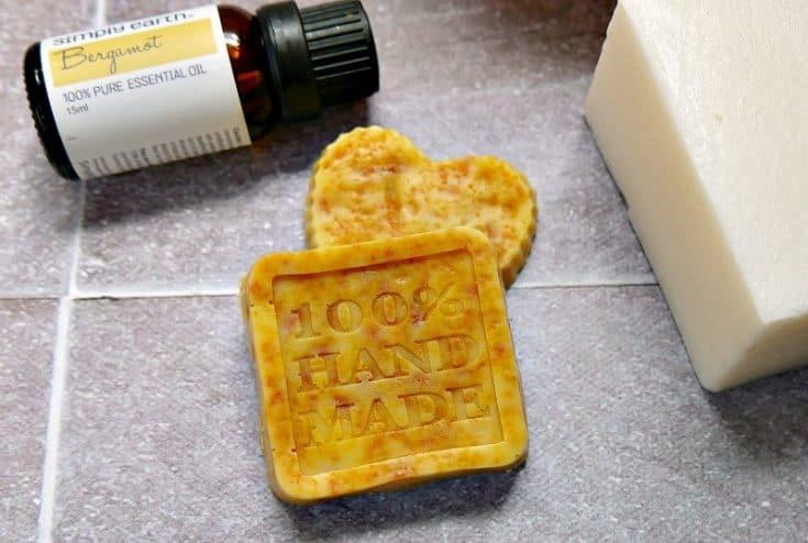DIY Creamsicle Orange Scented Soap