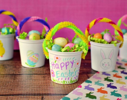 Mini Easter Baskets K Cup Easter Craft