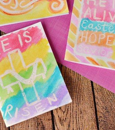 Simple Handmade Watercolor Easter Cards