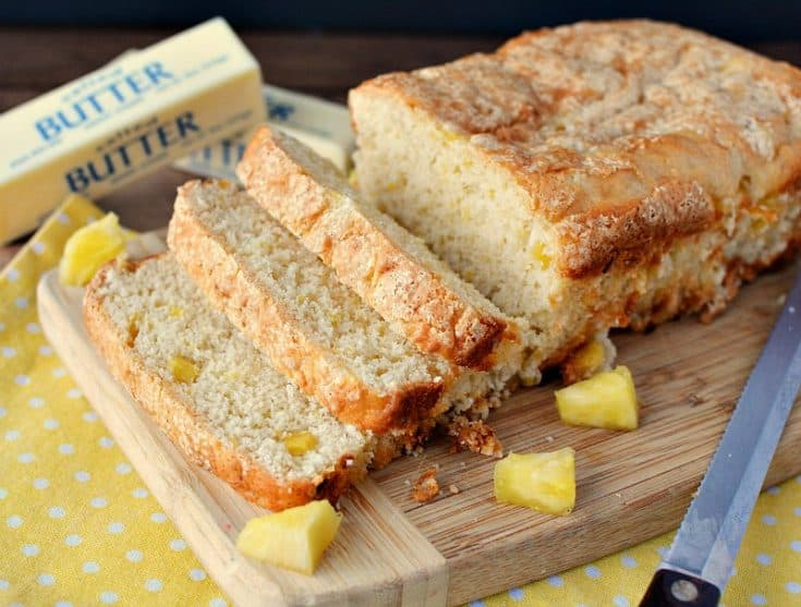 3 Ingredient Quick Pineapple Bread Recipe with Self-Rising Flour