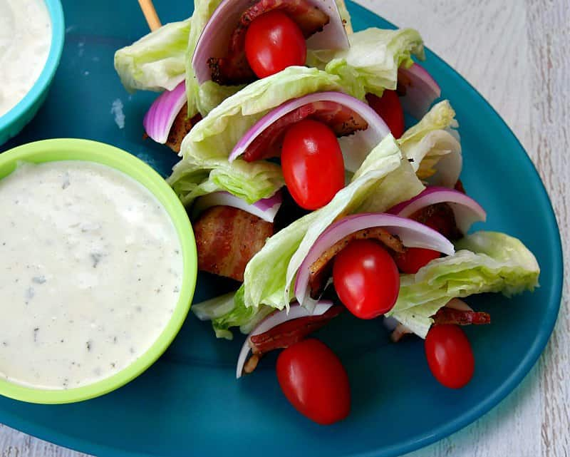 Salad on a stick appetizer