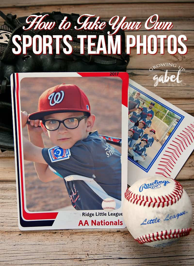 Take your own awesome team photos with these tricks! Plus use a photo template to print them at home. Great for boys, girls, baseball, volleyball, soccer, football, cheer and more!
