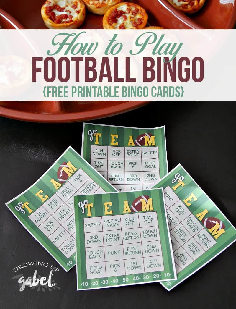 It's just a picture of Remarkable Free Printable Football Bingo Cards