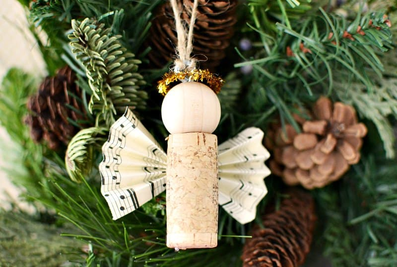 DIY Wine Cork Angel Christmas Ornaments