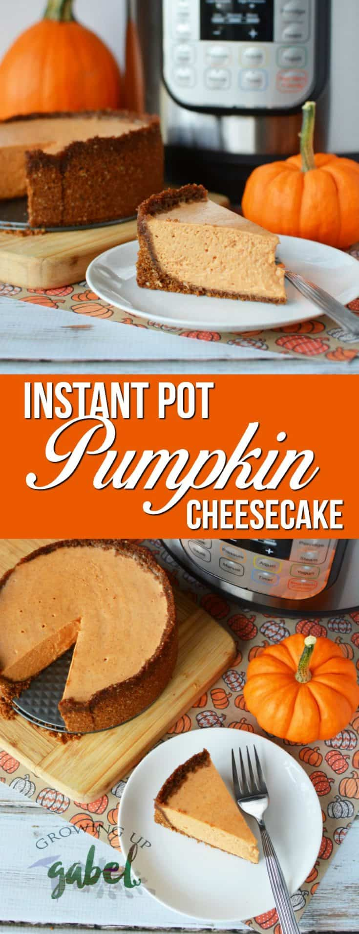 Make a cheesecake in your Instant Pot. Pumpkin Cheesecake with a gingersnap cookie crust is a delicious way to use your Instant Pot!