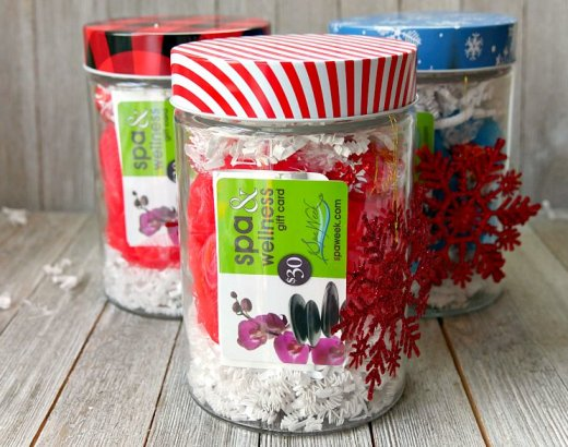 Easy Spa in a Jar Gift Idea