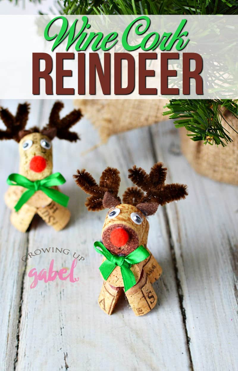 How to make adorable wine cork reindeer for Reindeer project