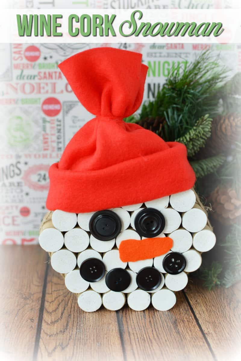 Diy wine cork snowman crafts for Christmas crafts to do