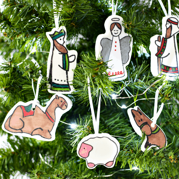 DIY Nativity Christmas Ornament Crafts for Kids {And Adults!}