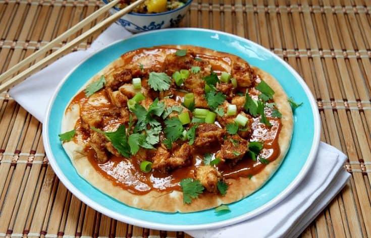Thai Chicken Pizza on a Pita