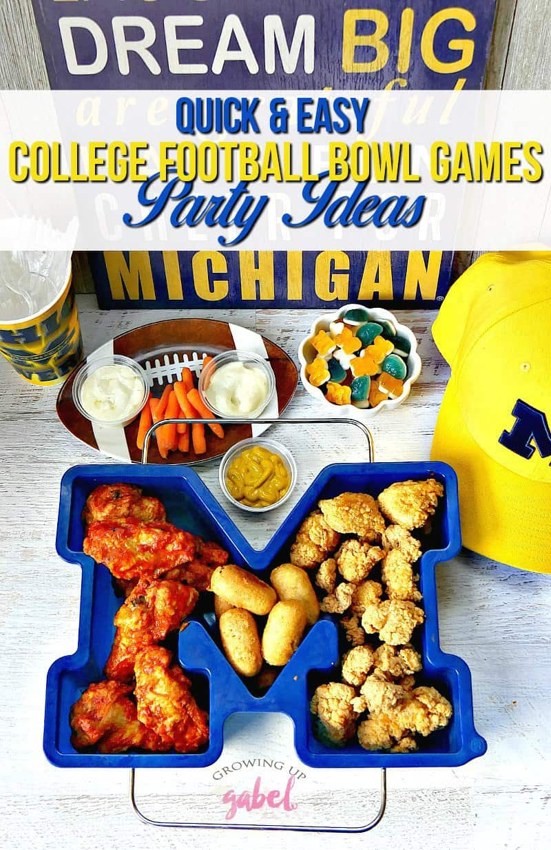 Quick And Easy College Football Bowl Games Party Ideas