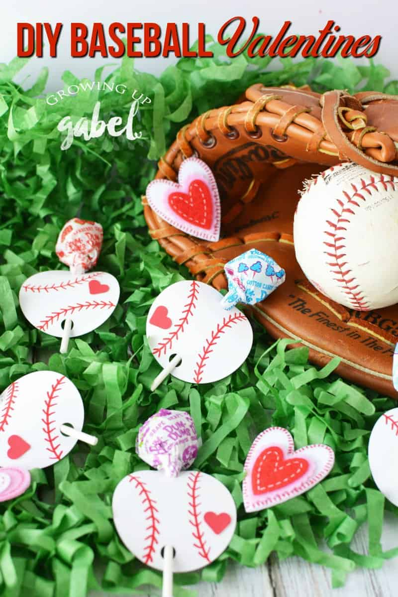 Make your favorite slugger DIY baseball valentines day cards using paper and a lollipop sucker! Great ideas for kids to make for classroom parties.