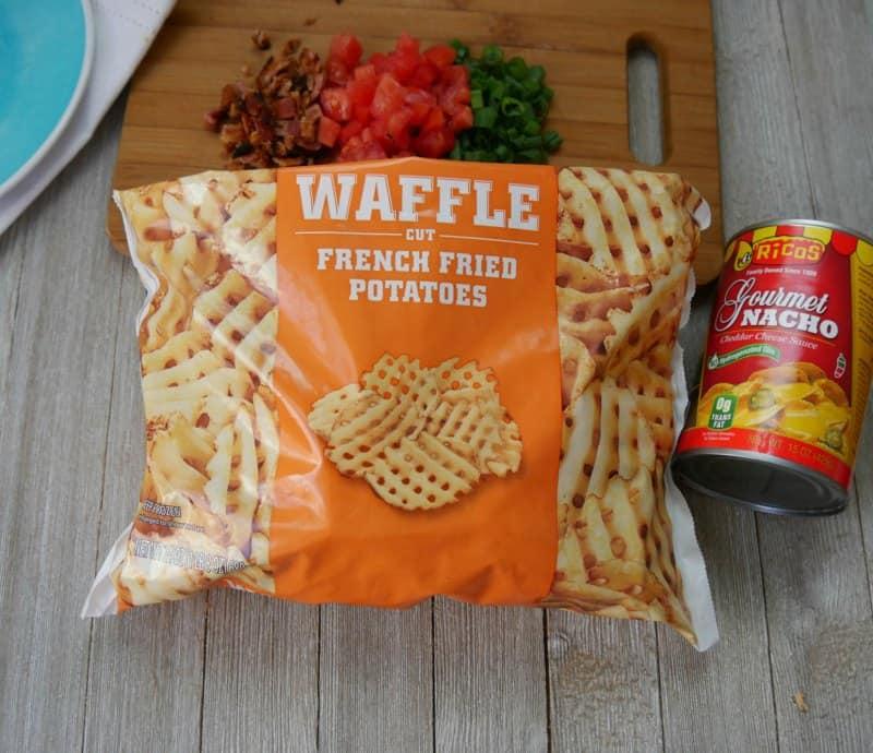 Frozen Waffle Fries to make Irish Nachos