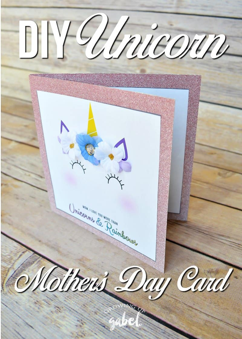 Easy Unicorn Diy Mother S Day Card
