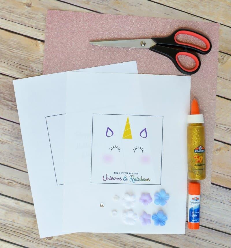 Unicorn DIY Mother's Day Card
