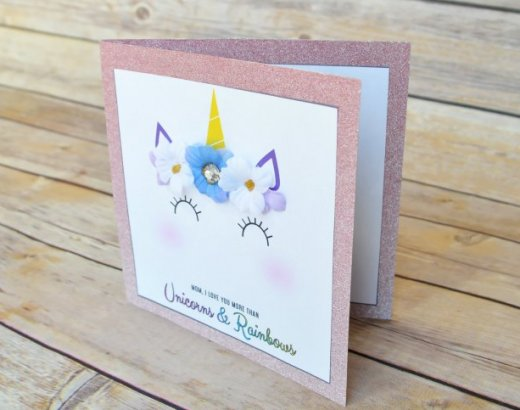 Easy Unicorn DIY Mother's Day Card