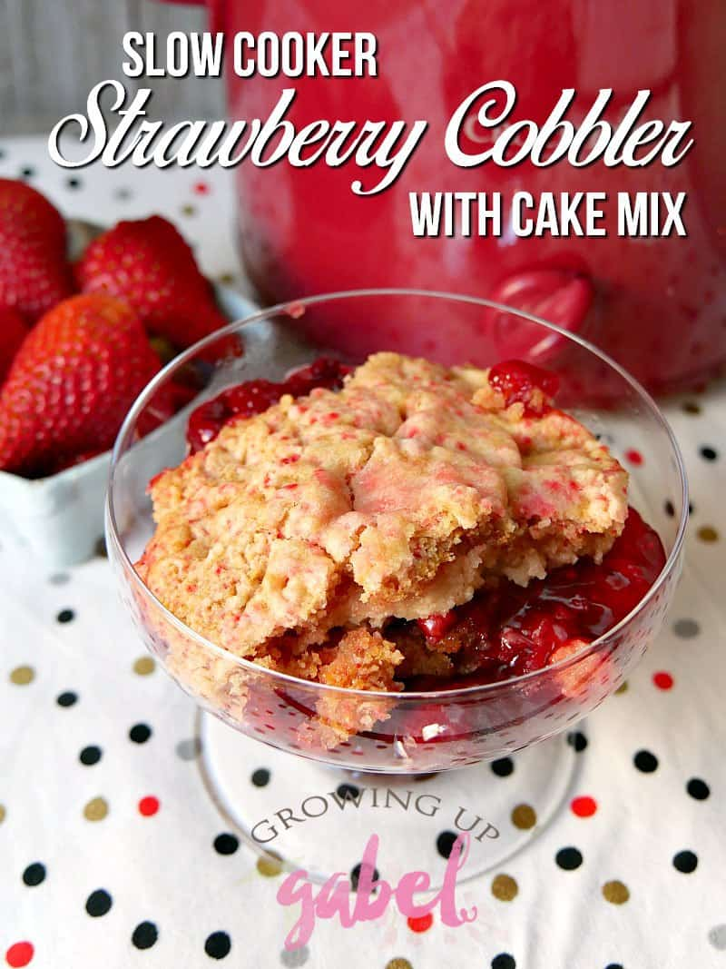 Strawberry Dump Cake With Canned Strawberries