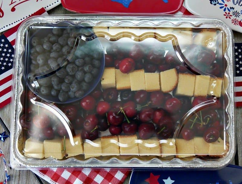 American Flag Fruit Tray