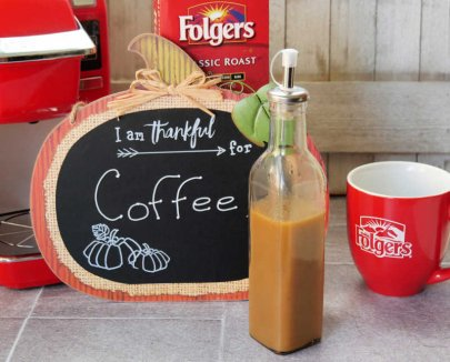 Make a Homemade Pumpkin Spice Latte for National Coffee Day with Folgers® Coffee
