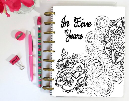 5 Year Goal Planner with Coloring Pages