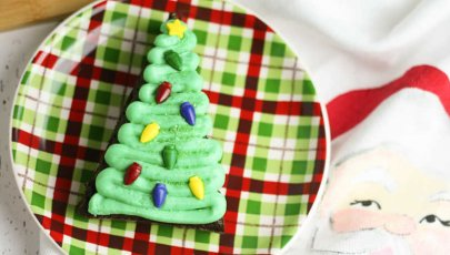 Christmas Tree Brownies from A Box