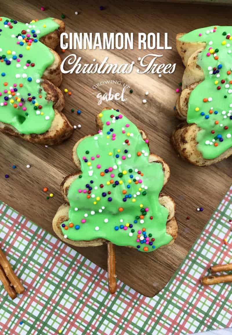 Christmas Cinnamon Rolls.Easy 2 Ingredient Cinnamon Roll Christmas Trees Growing Up Gabel