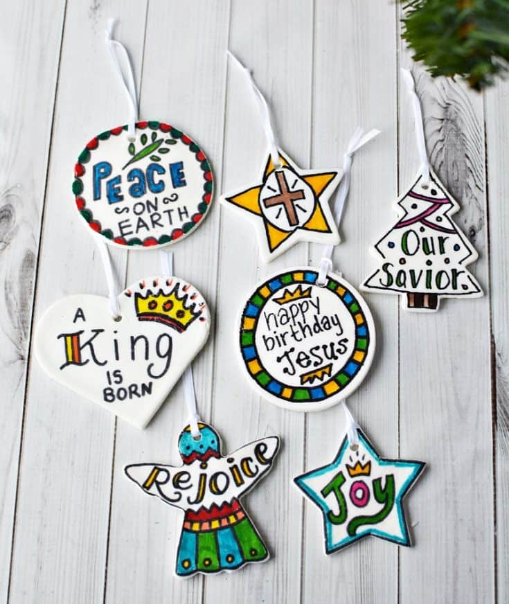 DIY Christmas Scripture Verses Dough Ornaments