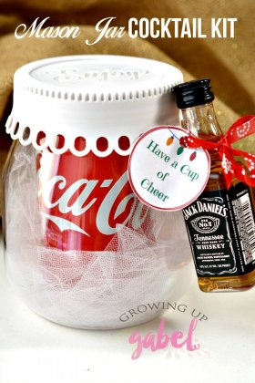 DIY Mason Jar Cocktail Kit Gift Idea