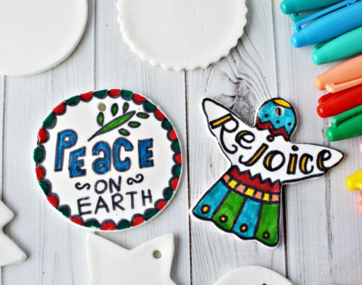 DIY Christmas Scripture Verses Dough Ornaments