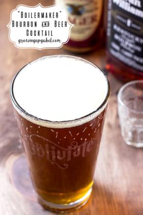 Boilermaker Bourbon Beer Cocktail