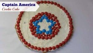 Captain America M&Ms Cookie Cake
