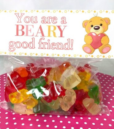 "You Are A ""Beary"" Good Friend Gummy Bear Valentine"