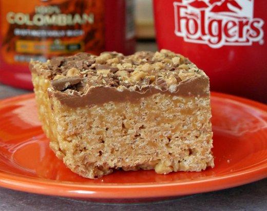 No Bake Chocolate Peanut Butter Scotcheroos