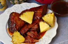 Slow Cooker Pineapple Ham with Sweet Mustard Glaze