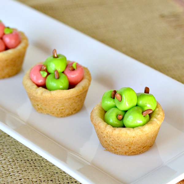 Apple Basket Sugar Cookie Cups