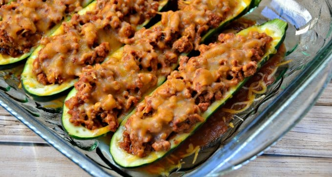 Chipotle & Garlic Taco Baked Zucchini Recipe