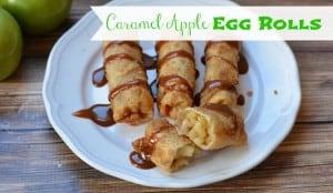 Caramel Apple Egg Rolls