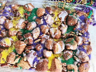 King Cake Mardi Gras Monkey Bread
