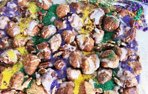 Kings Cake Mardi Gras Monkey Bread