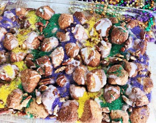 King Cake Mardi Gras Monkey Bread