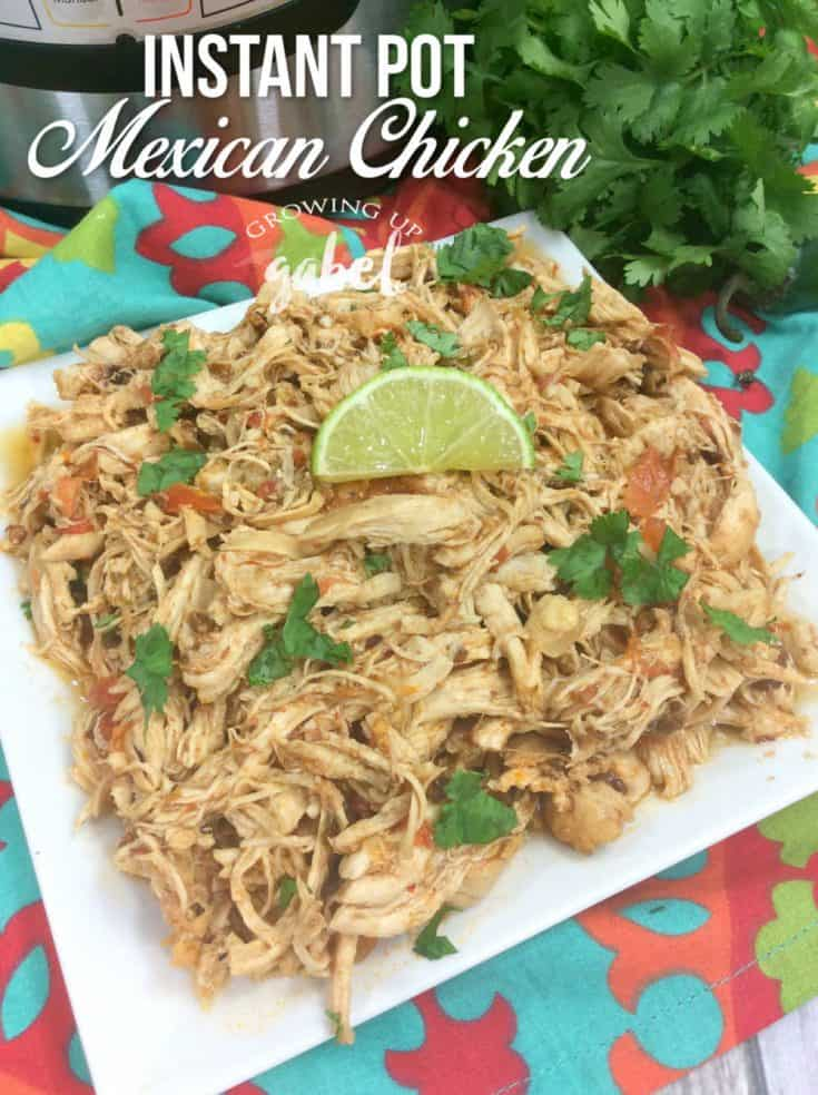 Instant Pot Mexican chicken is great for tacos, bowls, and enchiladas! Ready in under 30 minutes, turn chicken breasts or thighs into an easy dinner.