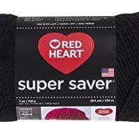 Red Heart Yarn Super Saver Yarn 312 Black, Teal