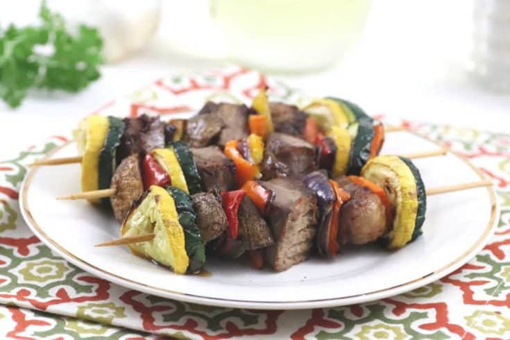 Air Fryer Steak Kebabs